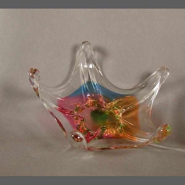 Multicolored Murano Glass Bowl