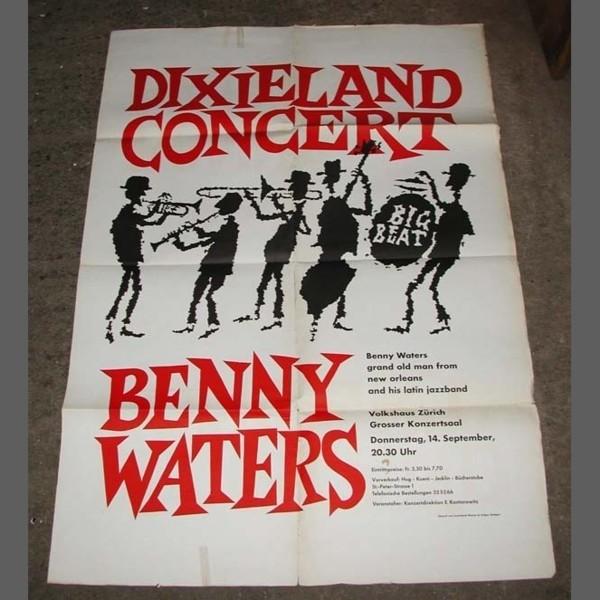 Konzertplakat. Benny Waters