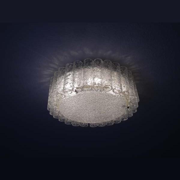 Glass ceiling lamp. Doria...