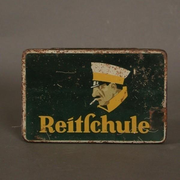 Reitschule. Advertising tin...