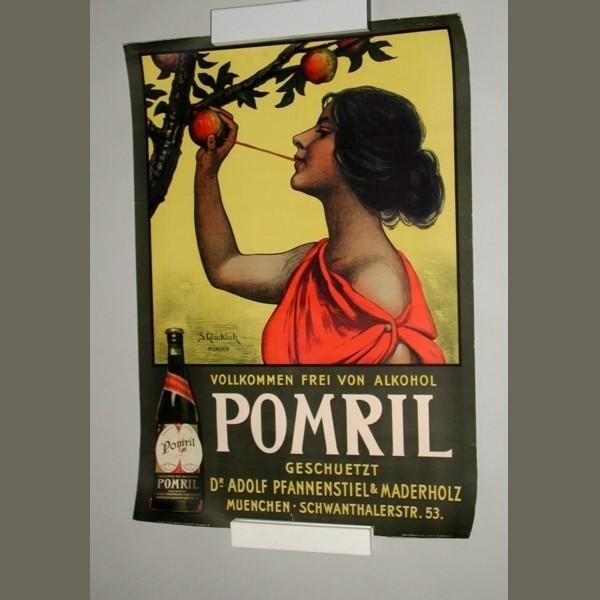 Art Nouveau poster. Pomril....