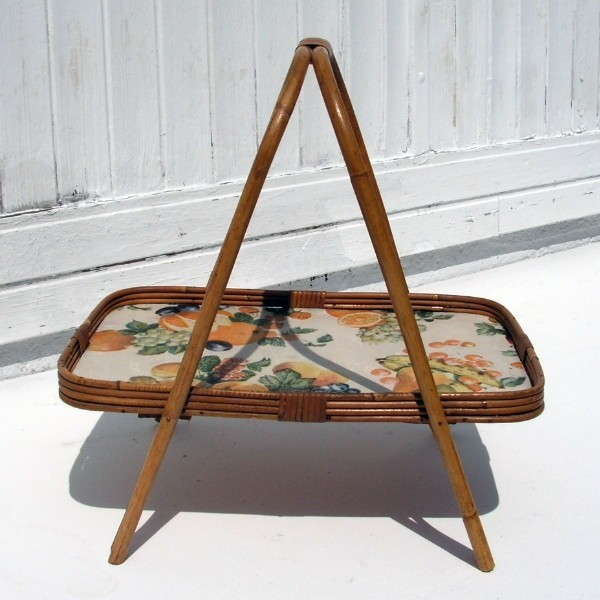 Vintage. Bamboo tray table....