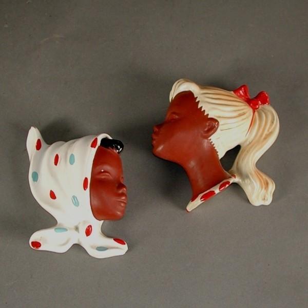 Vintage. Two ceramic...