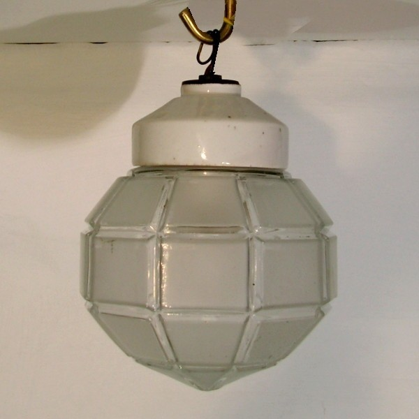 Art Deco ceiling glass...