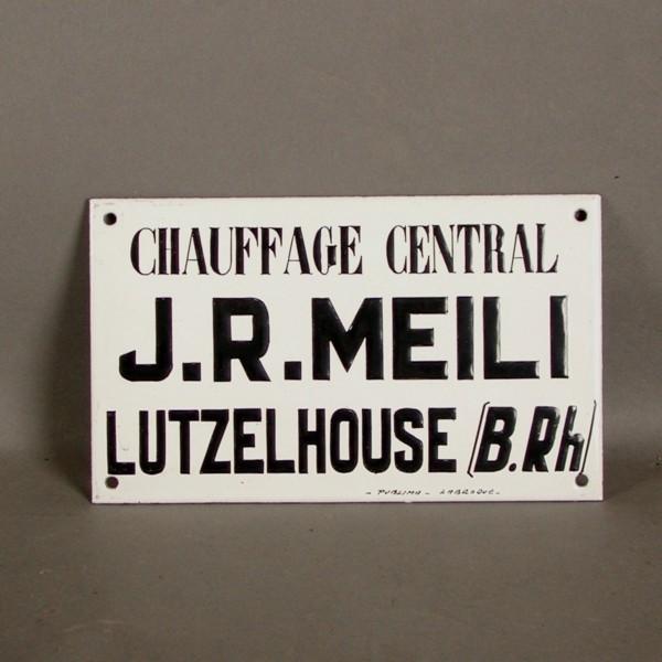 Advertising sign. J.R.Meli....
