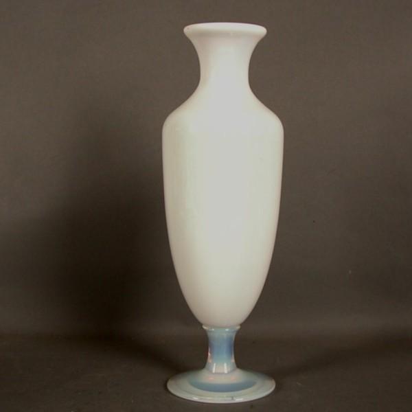 Glass vase. Opal glass....