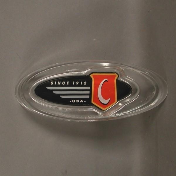 Advertising. Glass ashtray....
