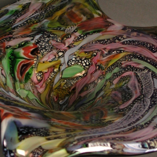 Big glass bowl. Murano....