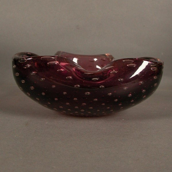 Murano. Glass ashtray....