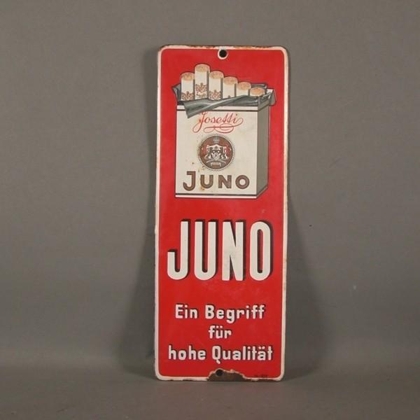 Advertising sign. Juno...