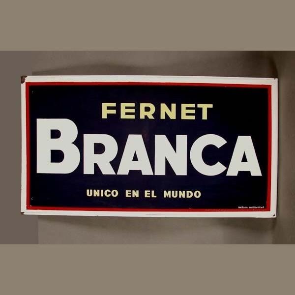 Emailschild. Fernet Branca....