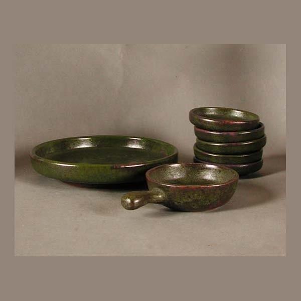 Ceramic pottery convolute....