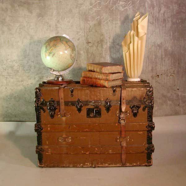Antique suitcase on wheels....