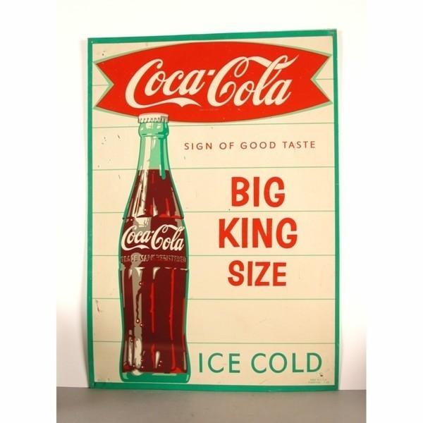 Advertising tin. Coca -...