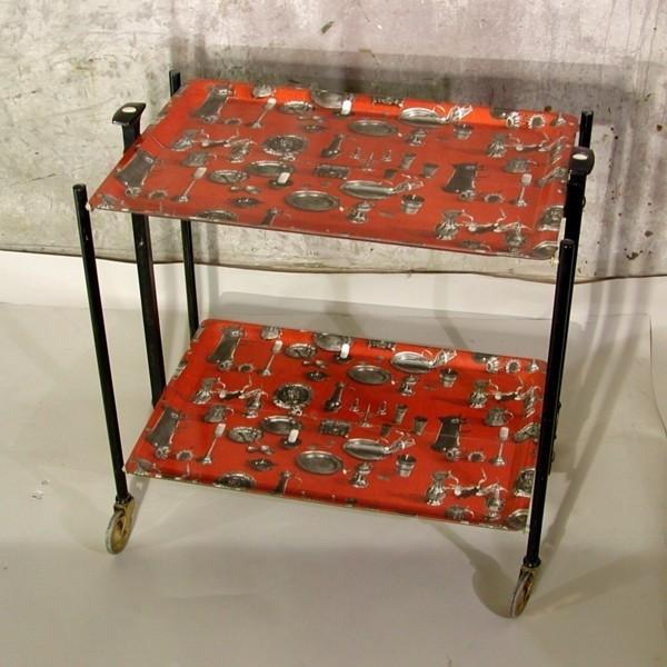 Metal serving trolley....