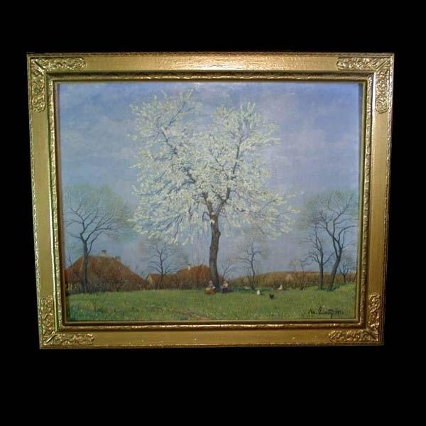Adolf Luntz. Oil on canvas....