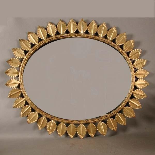 Vintage. Round metal mirror...