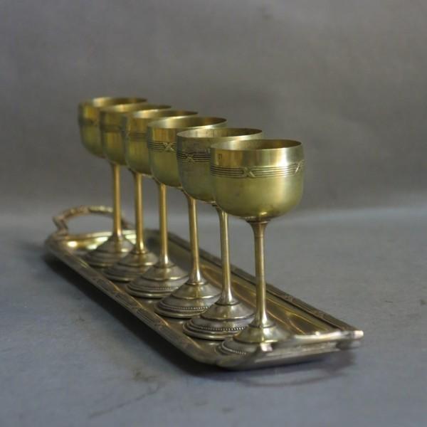 Art Nouveau liqueur set....