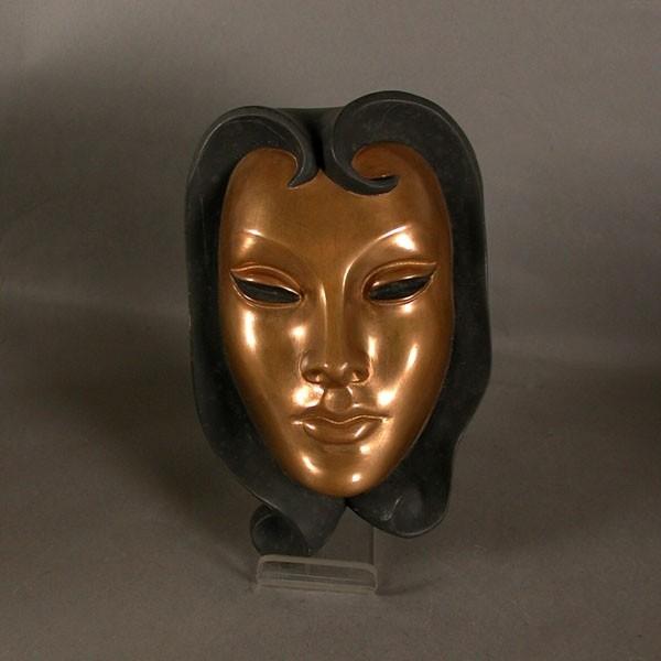 Vintage ceramic wallmask...