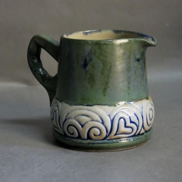 Art Nouveau. Ceramic milk...