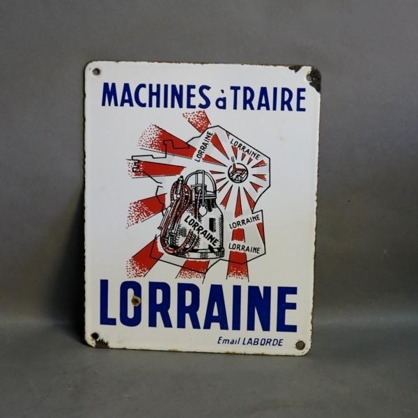 Advertising sign Lorraine....