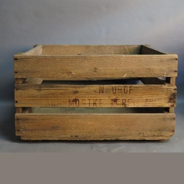 Antigua caja de madera de...