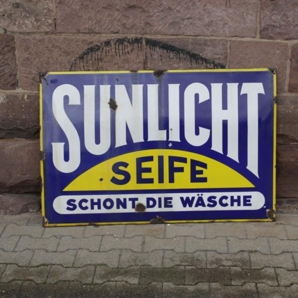 Advertising sign. Sunlicht...