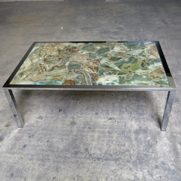 20th Century onyx table...