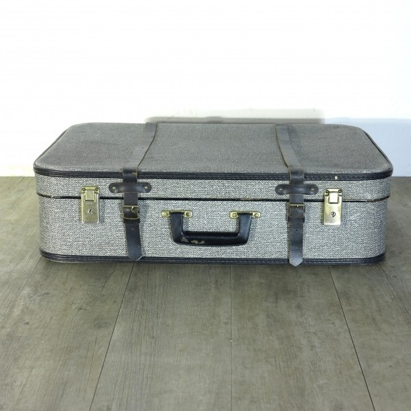 Antique travel suitcase for...