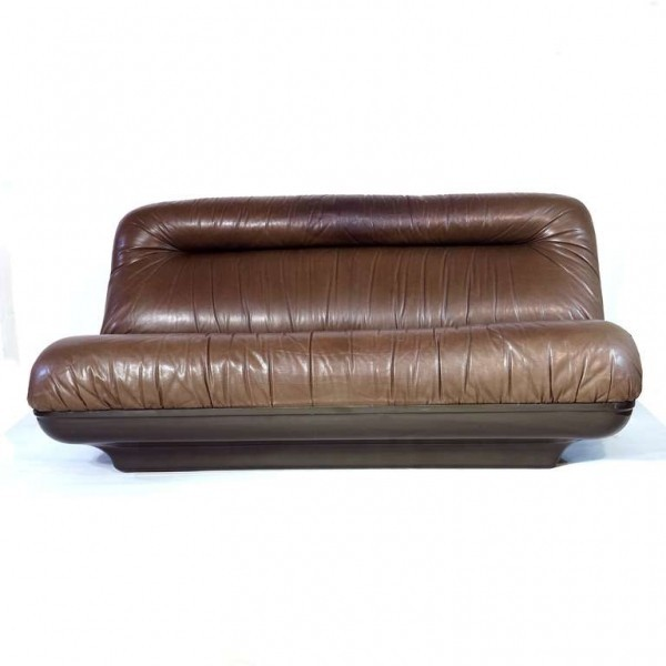 Limited leather sofa with a...