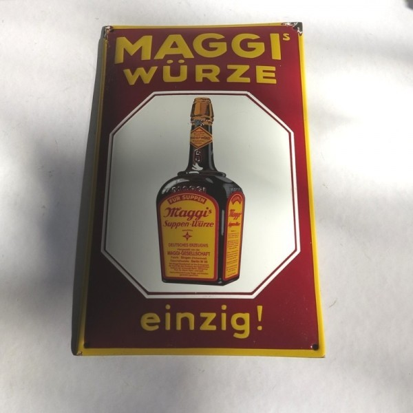 Advertising sign. Maggi Würze.