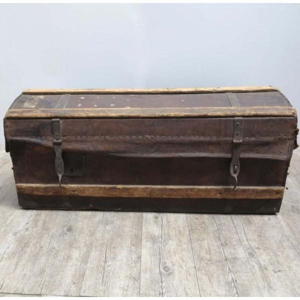 Antique travel trunk. 1850...