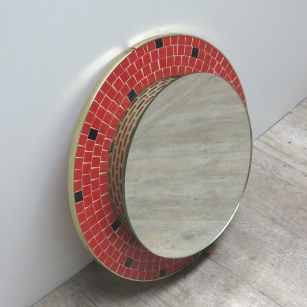 Vintage Mosaikspiegel mit...