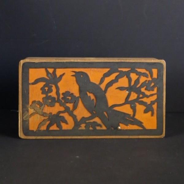 Art Nouveau wood box. 1910...