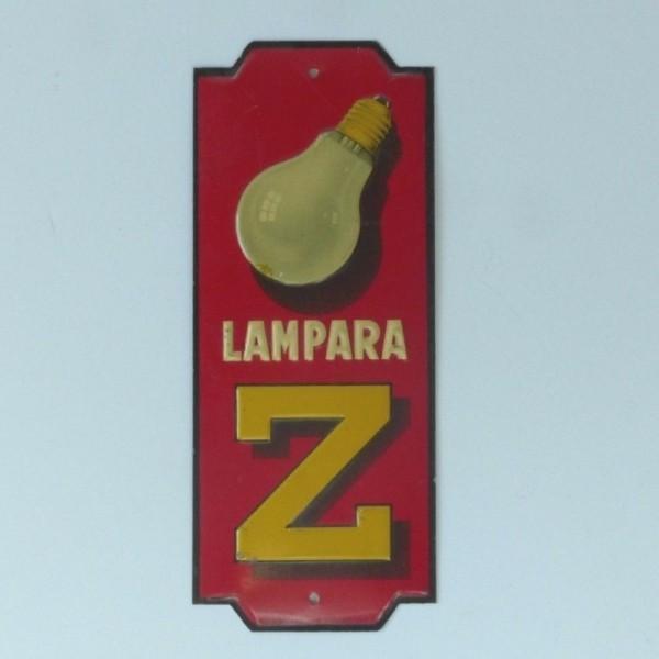 """Advertising sign """"Lámpara..."""