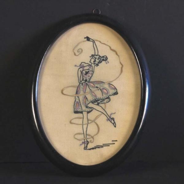 Art Nouveau silk embroidery...