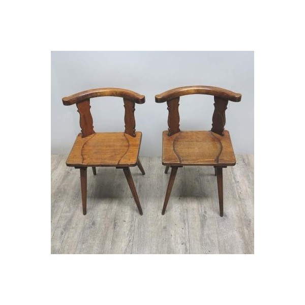 Two antique wood chairs....