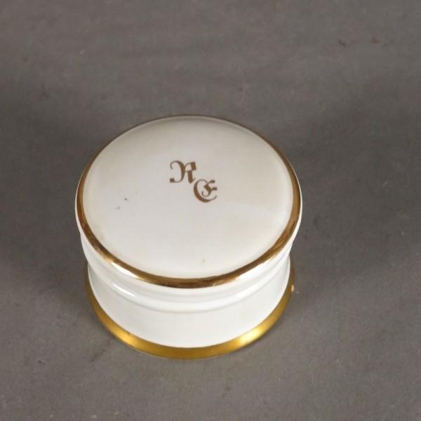 Biedermeier porcelain box...