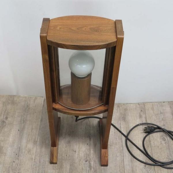 Vintage wooden floor lamp...