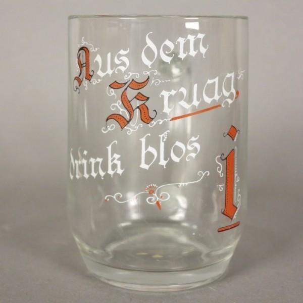 Bierkrug aus Glas. 1910 - 1920