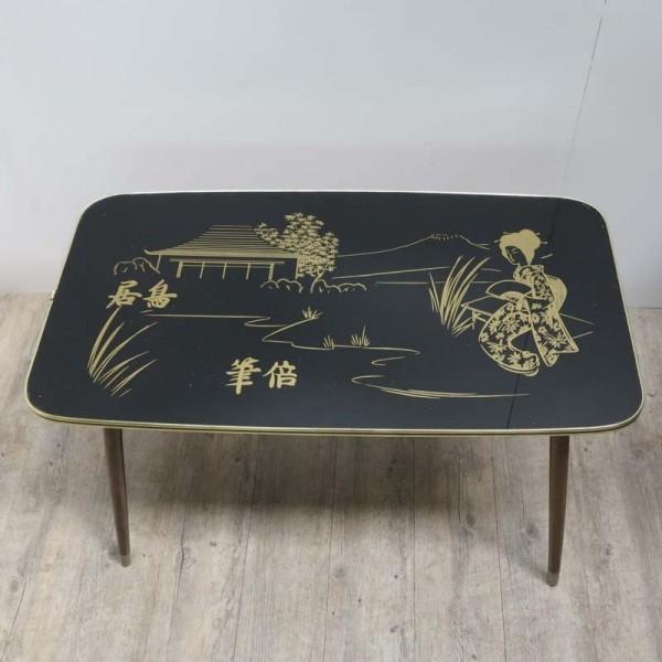 Vintage Glastisch mit...