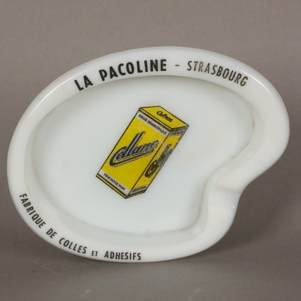 Advertising glass ashtray...