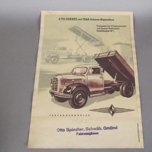 Vintage Plakat Borgward...
