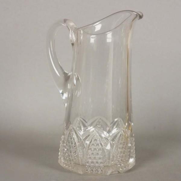 Polished crystal jug. 1950...