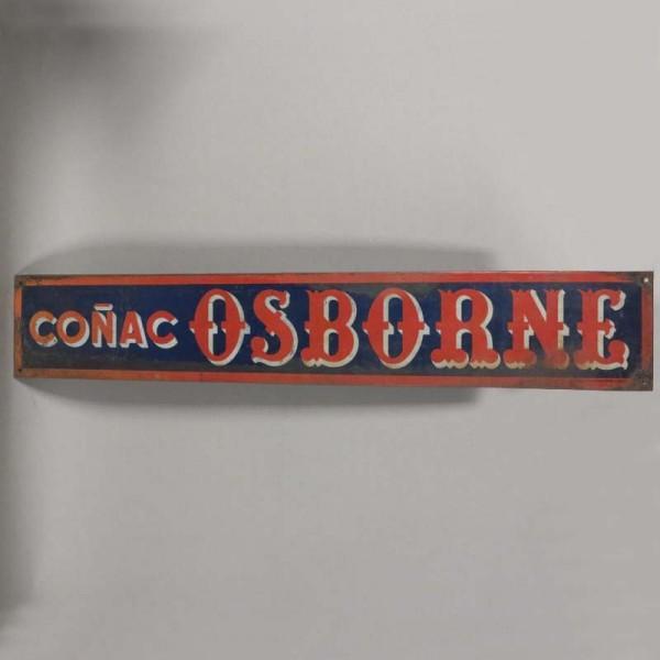 Cogñac Osborne. Blechschild...
