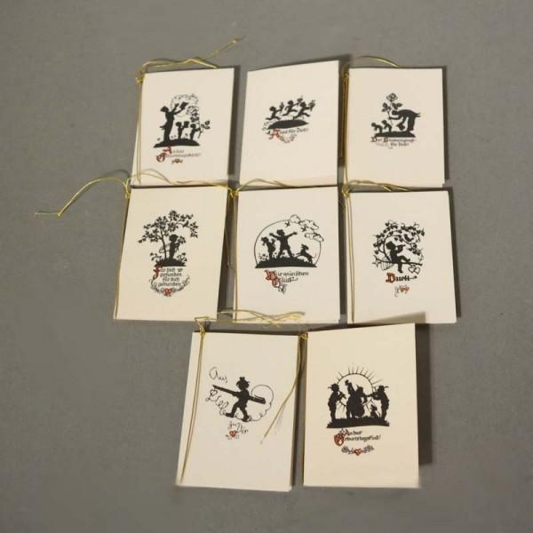 Acht Jugendstil Grusskarten...