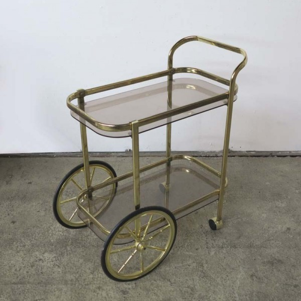 Vintage trolley with two...