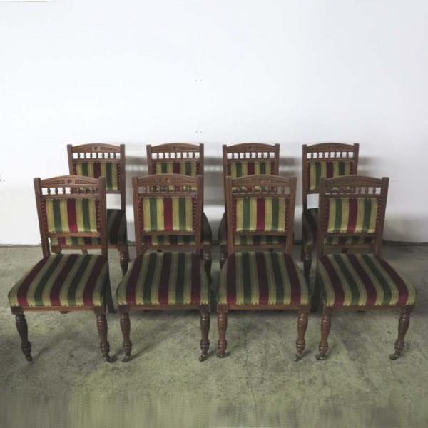 Satz von 8 Stühlen von...