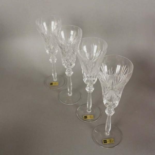 Vier Bleikristall Gläser...
