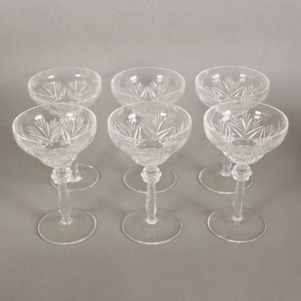 Six liqueur glasses made of...